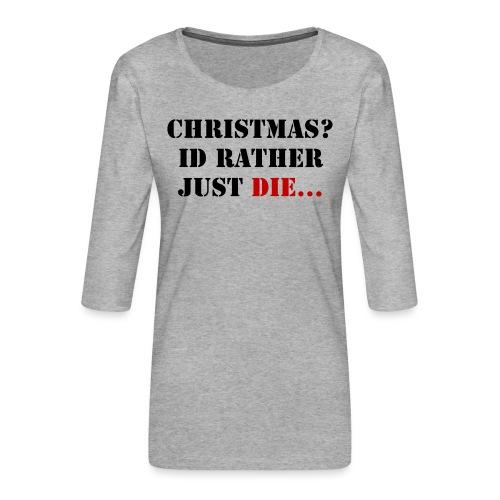 Christmas joy - Women's Premium 3/4-Sleeve T-Shirt