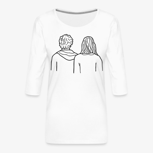 HEADY WHISPERS - T-shirt Premium manches 3/4 Femme