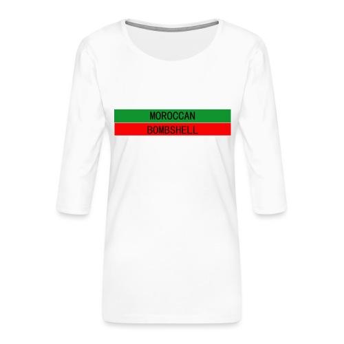 Moroccan Bombshell - Frauen Premium 3/4-Arm Shirt