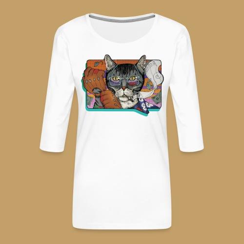 Crime Cat - Koszulka damska Premium z rękawem 3/4