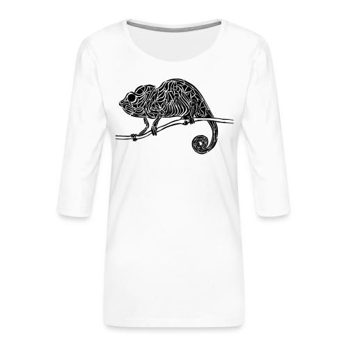 Chameleon - cameleon - T-shirt Premium manches 3/4 Femme