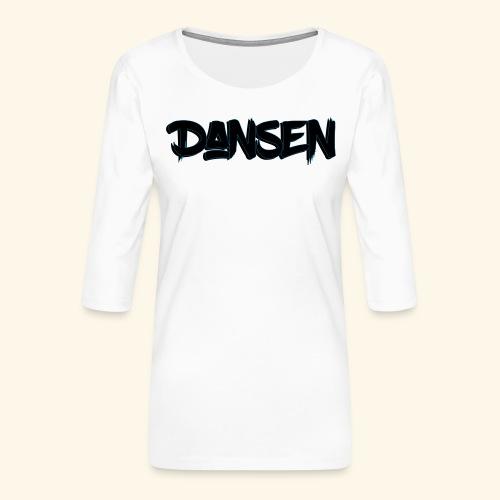DansenLogo - Premium-T-shirt med 3/4-ärm dam