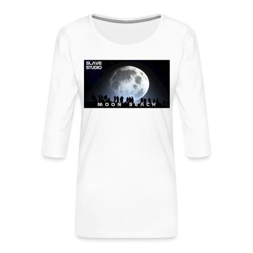 Moon beach - Maglietta da donna premium con manica a 3/4