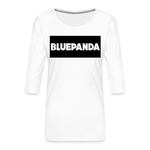 BLUE PANDA - Women's Premium 3/4-Sleeve T-Shirt