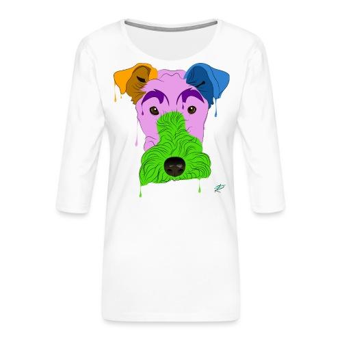 Fox Terrier - Maglietta da donna premium con manica a 3/4