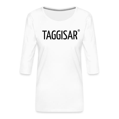 Taggisar Logo Black - Premium-T-shirt med 3/4-ärm dam