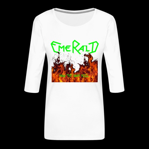 htgkbutton - Frauen Premium 3/4-Arm Shirt