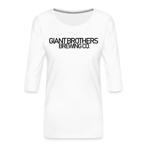 Giant Brothers Brewing co SVART - Premium-T-shirt med 3/4-ärm dam