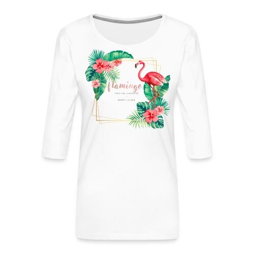 flamingo3 - Koszulka damska Premium z rękawem 3/4
