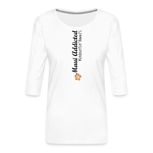 MAddLogoVert ai - Women's Premium 3/4-Sleeve T-Shirt