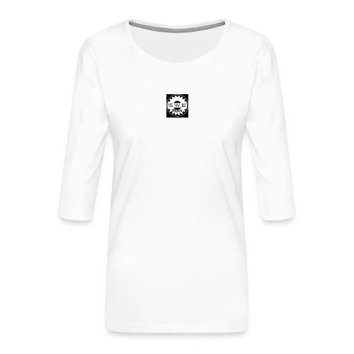 swe_man_loggo-png - Premium-T-shirt med 3/4-ärm dam