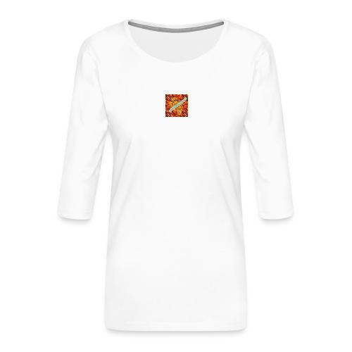 sverimasken2 - Premium-T-shirt med 3/4-ärm dam