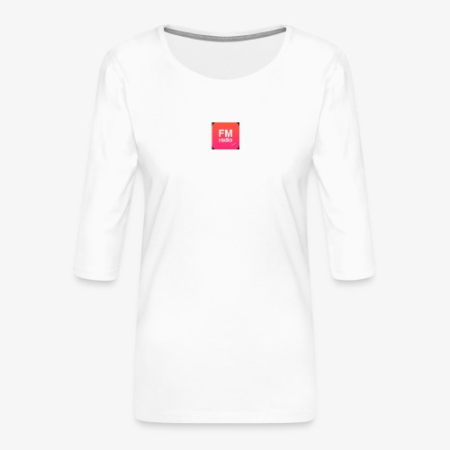 logo radiofm93 - Vrouwen premium shirt 3/4-mouw