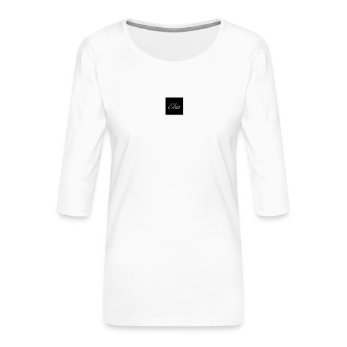 ELIA (Black and white) - Frauen Premium 3/4-Arm Shirt