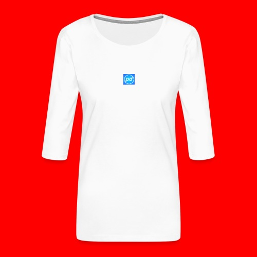 pd Blue V2 - Dame Premium shirt med 3/4-ærmer