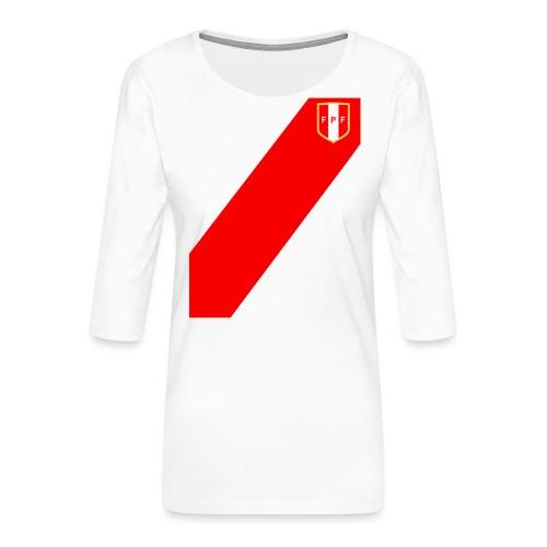 Seleccion peruana de futbol (Recto-verso) - Frauen Premium 3/4-Arm Shirt