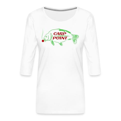 Carp Point new1 mid - Frauen Premium 3/4-Arm Shirt