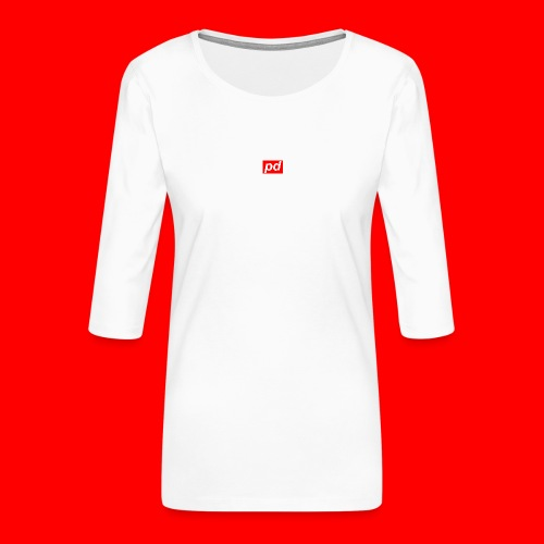 pd Red - Dame Premium shirt med 3/4-ærmer