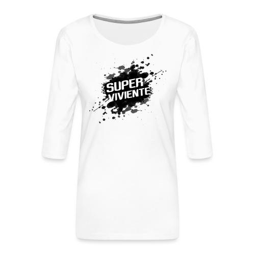 Superviviente - Camiseta premium de manga 3/4 para mujer
