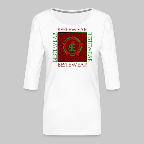 #Bestewear - Royal Line (Green/Red) - Frauen Premium 3/4-Arm Shirt
