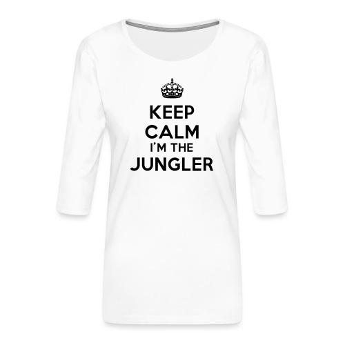Keep calm I'm the Jungler - T-shirt Premium manches 3/4 Femme