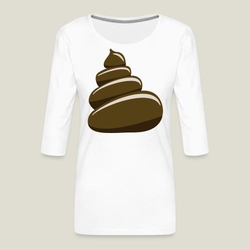 Bajskorv, Turd, Crap, Poop, Shit, Shite - Premium-T-shirt med 3/4-ärm dam