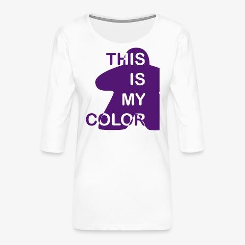 That is my Color - Premium T-skjorte med 3/4 erme for kvinner