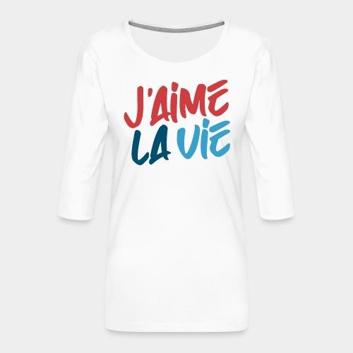 Ich liebe das Leben - T-shirt Premium manches 3/4 Femme