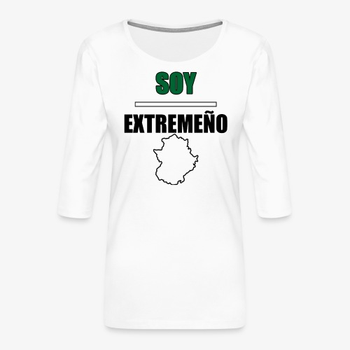 Soy Extremeño. - Camiseta premium de manga 3/4 para mujer