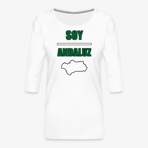 Soy Andaluz - Camiseta premium de manga 3/4 para mujer