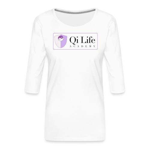 Qi Life Academy Promo Gear - Women's Premium 3/4-Sleeve T-Shirt