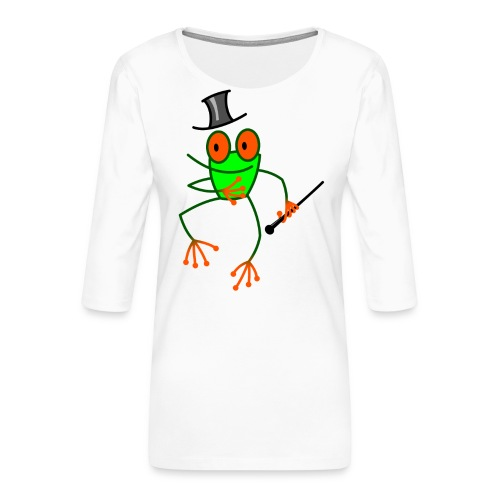 Dancing Frog - Women's Premium 3/4-Sleeve T-Shirt
