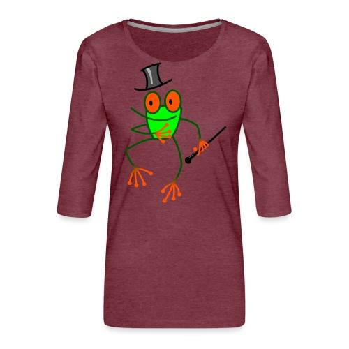 Dancing Frog - Women's Premium 3/4-Sleeve T-Shirt