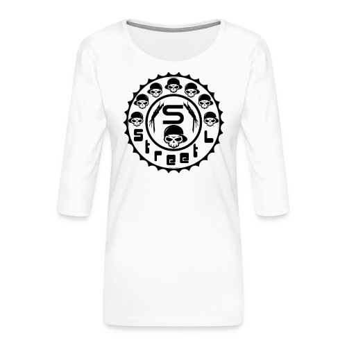 rawstyles rap hip hop logo money design by mrv - Koszulka damska Premium z rękawem 3/4