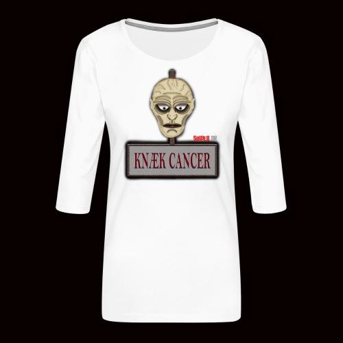 Knæk Cancer Kollektion ! - Dame Premium shirt med 3/4-ærmer