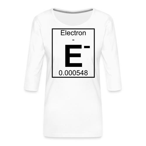E (electron) - pfll - Women's Premium 3/4-Sleeve T-Shirt