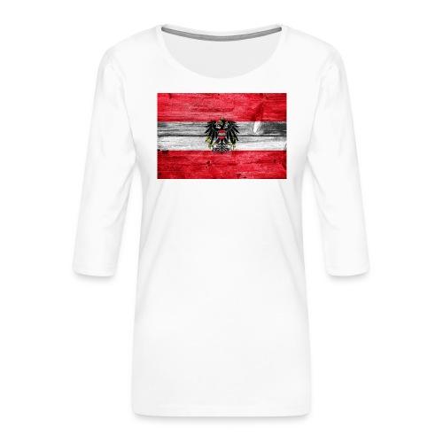 Austria Holz - Frauen Premium 3/4-Arm Shirt