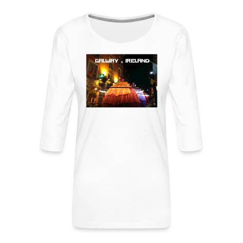GALWAY IRELAND MACNAS - Women's Premium 3/4-Sleeve T-Shirt