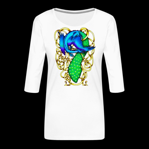 Peacock Dragon - Women's Premium 3/4-Sleeve T-Shirt