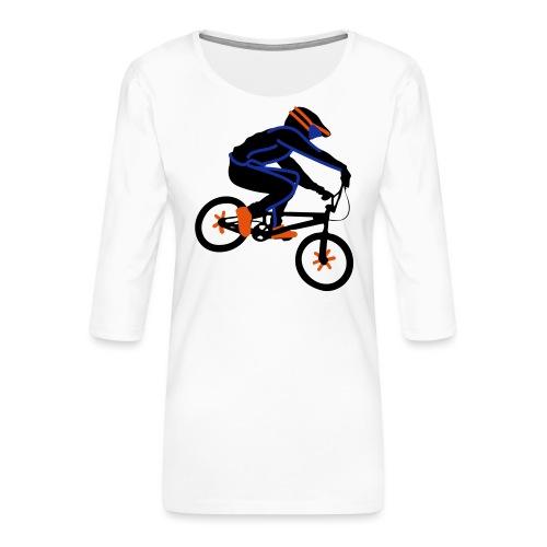 BMX Rider Dark - Vrouwen premium shirt 3/4-mouw