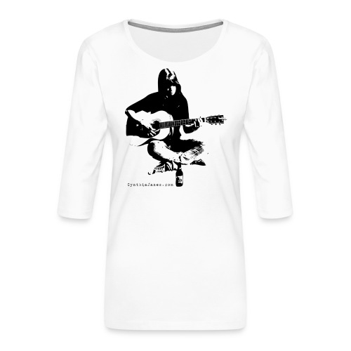Cynthia Janes guitar BLACK - Women's Premium 3/4-Sleeve T-Shirt