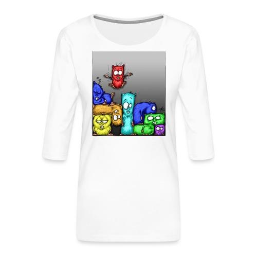 hamstris_farbe - Frauen Premium 3/4-Arm Shirt