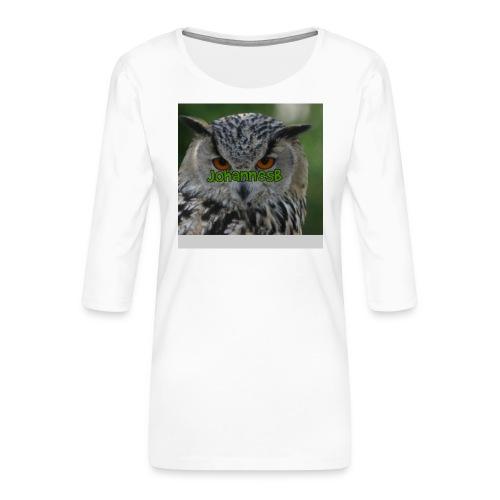 JohannesB lue - Premium T-skjorte med 3/4 erme for kvinner