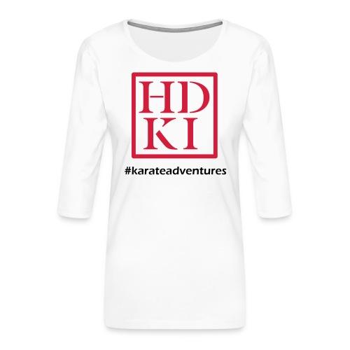 HDKI karateadventures - Women's Premium 3/4-Sleeve T-Shirt
