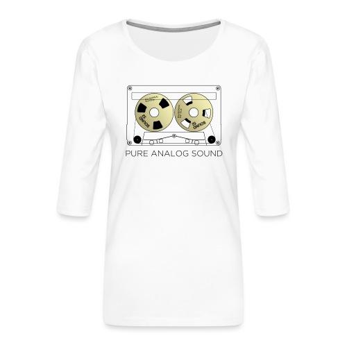 Reel gold cassette white - Women's Premium 3/4-Sleeve T-Shirt