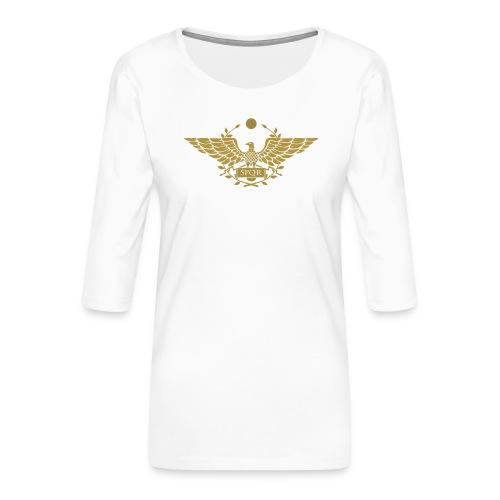 Orzeł SPQR | Eagle of SPQR - Koszulka damska Premium z rękawem 3/4