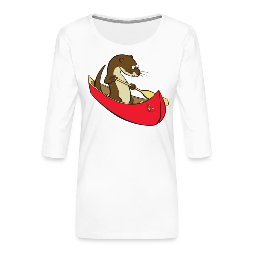 redcanoewithsticker - Women's Premium 3/4-Sleeve T-Shirt