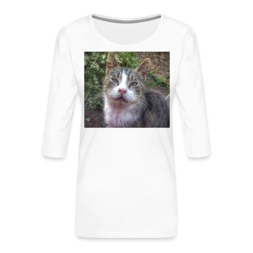 Katze Max - Frauen Premium 3/4-Arm Shirt