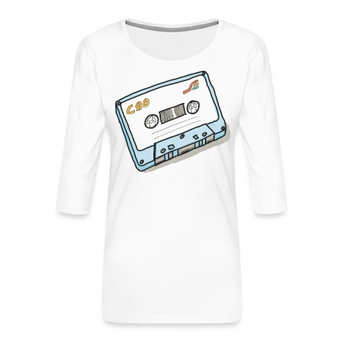 Cassette - Frauen Premium 3/4-Arm Shirt