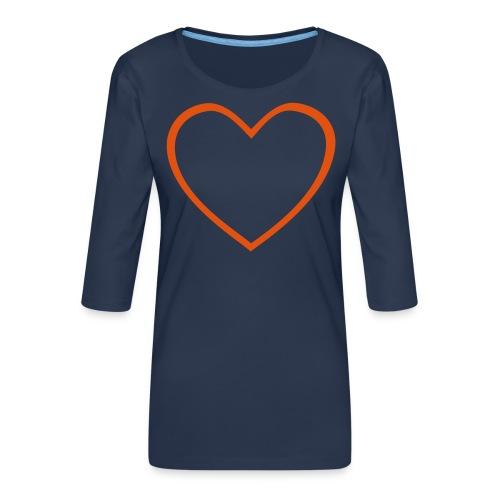 Hjärta 4 - Premium-T-shirt med 3/4-ärm dam